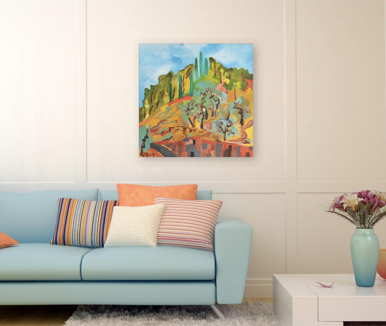 peinture couleurs paysage figuratif tableau d coration achat en ligne. Black Bedroom Furniture Sets. Home Design Ideas